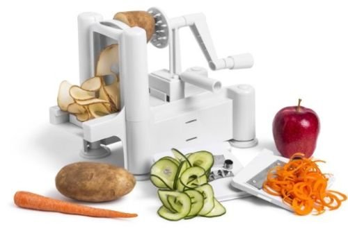 American Phoniex Vegetable Spiral Slicer Spiralizer Veggie Fruit Chopper Mandolin Cutter ()