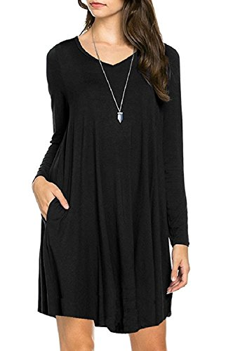 Long Sleeve Pockets Dress 00000000000161