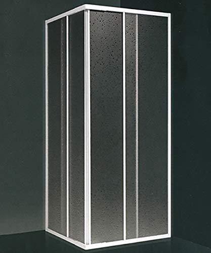 Box doccia angolare, misura cm.70x90(riducibile da cm.60-70 a cm.80-90), scorrevole colore bianco in acrilico Arredobagnoecucine