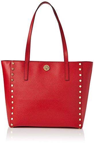 Michael Kors Rivington Stud - Bolsos maletín Mujer Rojo (Bright Red)