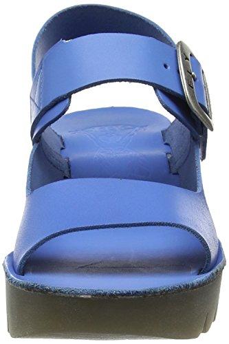 Mujer 003 de London Cuñas Fly Sandalias Smurf P143907003 Azul Blue wXvzxRxqT
