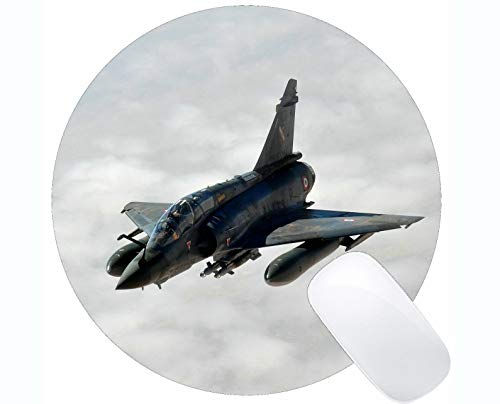 Round Mouse Pad with Stitched Edge,Phantom Jet Aircraft 598752_1920 Non-Slip Rubber Base Mousepad