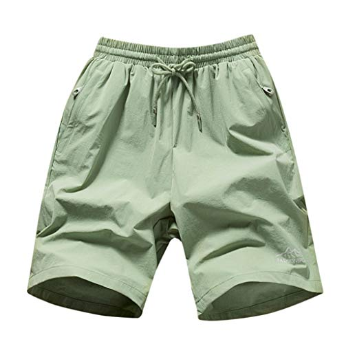 - ZEFOTIM Shorts for Men 2019 Spring Summer Print Trunks Quick Dry Beach Surfing Running Short Pant(Green,Medium)