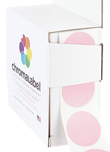 ChromaLabel 1 inch Color-Code Dot Labels | 1,000/Dispenser Box (Pink)