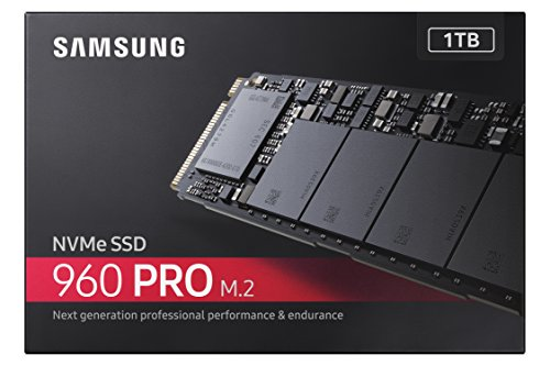 Samsung 960 PRO Series - 1TB PCIe NVMe - M.2 Internal SSD (MZ-V6P1T0BW) 5 M.2 (2280) - PCIe 3.0 x4 NVM Express SSD for Client PCs V-NAND Client SSD ideal for GAMING, high-performance tower desktops and small form factor PC's Sequential Read Speeds up to 3500MB/s and Sequential Write Speeds up to 2100MB/s.Performance may vary based on system hardware & configuration