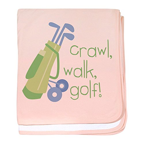 CafePress - Crawl, Walk, Golf! - Baby Blanket, Super Soft Newborn Swaddle