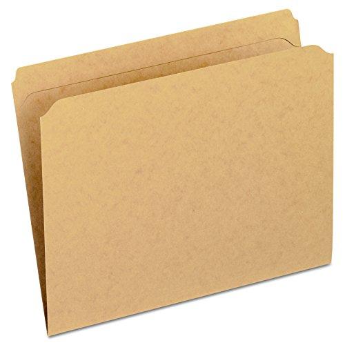 (Pendaflex 2-Ply Dark Kraft File Folders, Straight Cut, Top Tab, Letter Size, BN, 100 per Box (RK152))