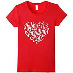 Happy Valentine's Day T-shirt - Valentine's Day Shirt - Female Medium - Red