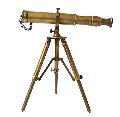 Collectibles Buy Vintage Table Decorative Brass Telescope with Tripod Maritime Ship Instrument Marine Gifts -