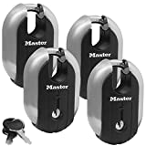 Master Lock - (4) Titanium Trailer Door/Multi Purpose Padlocks 2-1/4'' Wide, 187KA-4