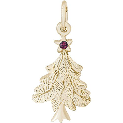 Christmas Tree Charm Gold Plated - 7
