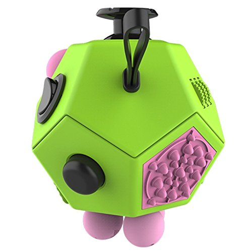 Yeyo Fidget Cube Dodecagon -12 Side Fidget Toy Cube Relieves Stress and  Anxiety Anti Depression Cube for Children and Adults with ADHD ADD OCD  Autism