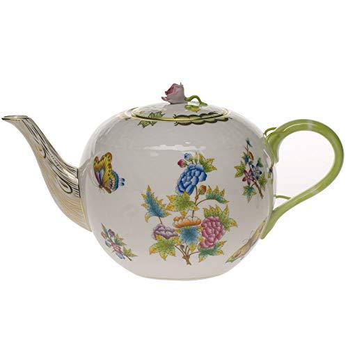 Herend Queen Victoria Porcelain Tea Pot With -