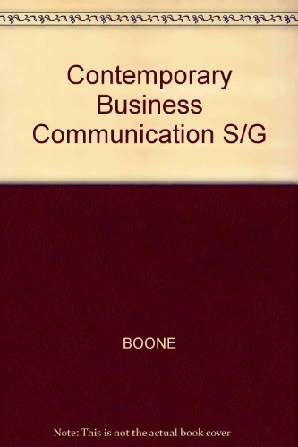 Contemporary Business Communication S/G