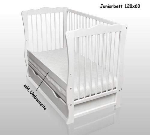 Julia Kinderbett Juniorbett Sofa mit Schublade und Matratze 120x60cm wei/ß Neu
