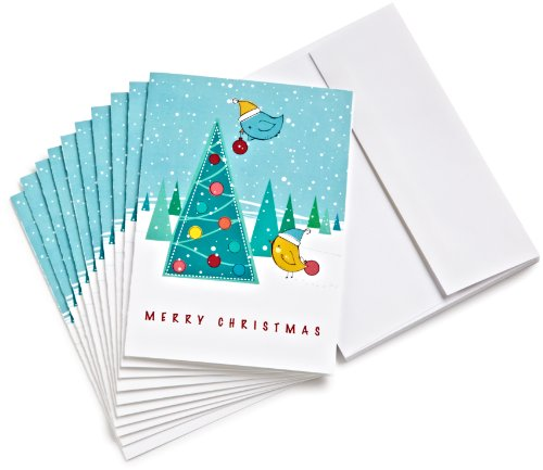 Amazon.com $15 Gift Cards, Pack of 10 with Greeting Cards (Christmas Tree Design)