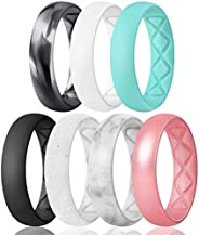 Egnaro Inner Arc Ergonomic Breathable Design, Silicone Rings for Women with Half Sizes, Women's Silicone W