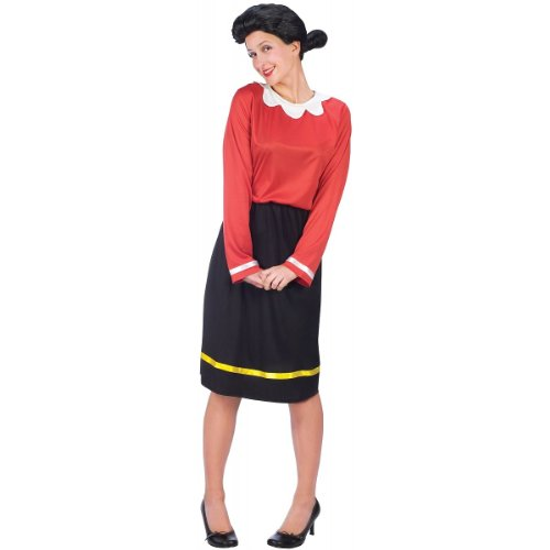 FunWorld Women's Olive Oyl Costume, Black, S