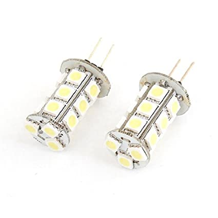 Amazon.com: eDealMax Par Bin Pin G4 Blanco 5050 SMD 18 del Panel de LED Bombilla 12V DC: Automotive