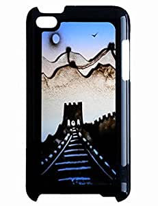 Personalized Phone Case for Women Design With Great Wall Sand Painting for Ipod Touch 4th
