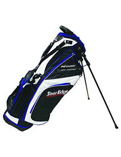 Tour Edge Golf Hot Launch 2 Stand Bag Black/White/Royal - Edge Stand Bag