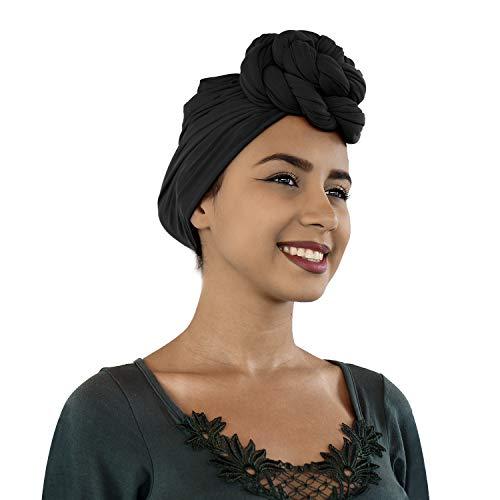 Lermity Turban Stretch Head Wrap Scarf Jersey Knit extra long 70