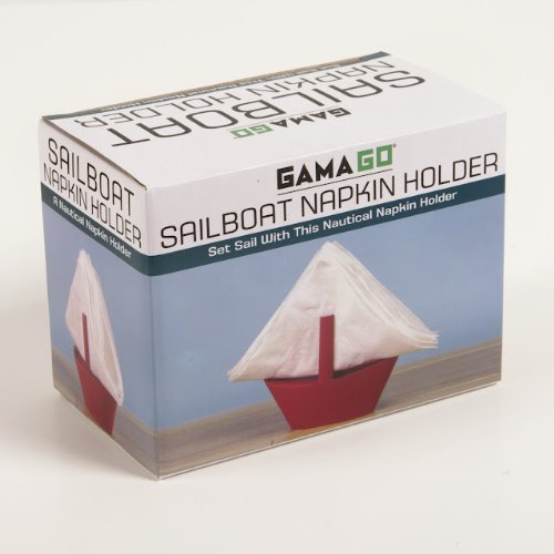 GAMAGO Sailboat Napkin Holder, Red LA1241