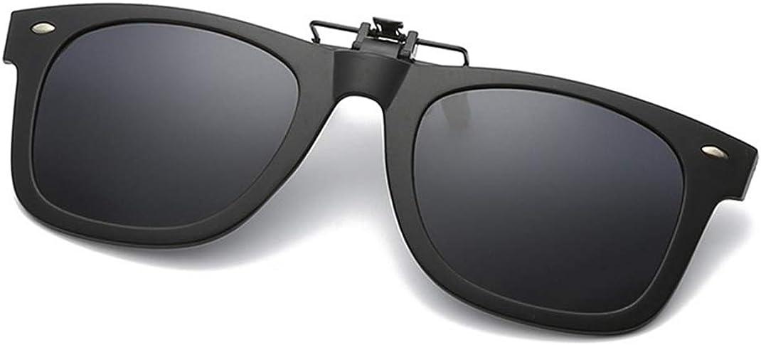 Flydo Polarizadas Clip en Gafas de Sol Marco Plástico con clip Unisex-Elegantes y cómodos Clips Gafas de sol miopes para exterior/conducción/pesca