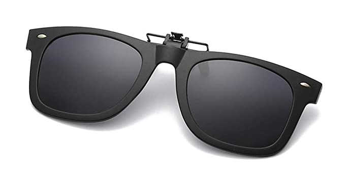 Flydo Polarizadas Clip en Gafas de Sol Marco Plástico con clip Unisex-Elegantes y cómodos