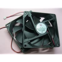 2 pcs Brushless DC Cooling Fan 5V 9025S 7 Blades 2 wire 92x92x25mm Sleeve-bearing Skywalking