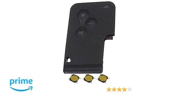 Carcasa para tarjeta llave-mando de 3 botones, sin hoja + 3 botones de interruptor