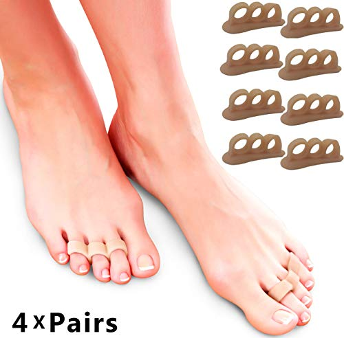 Hammer Toe Straightener Corrector Pads - Gel Toe Separators to Correct Hammer Toes, Ideal Turf Toe Brace & Claw Toe Straightener to Support & Correct Toes for Hammertoe Overlapping Pain Relief