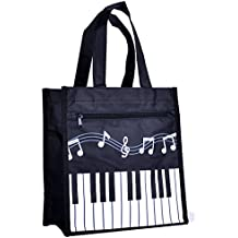 Piano Keys Music Waterproof Oxford Cloth Handbag Shoulder Tote Shopping Bag Gift…