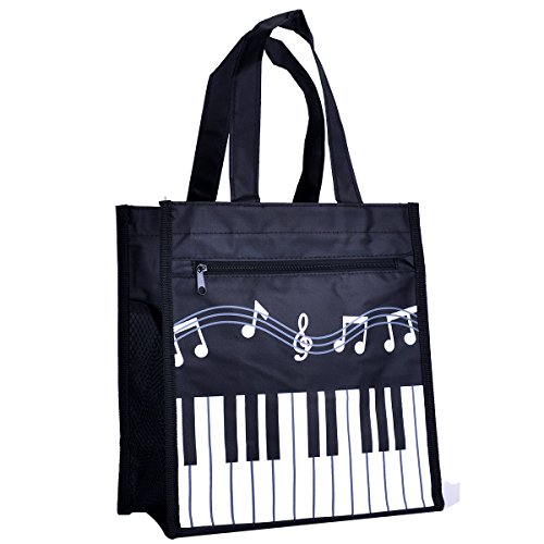 [해외]Crosstree Oxford Cloth 피아노 키 음악 Tote Bag 식료품 점 Tote 쇼핑백/Crosstree Oxford Cloth Piano Keys Music Tote Bag Grocery Tote Shopping Bag