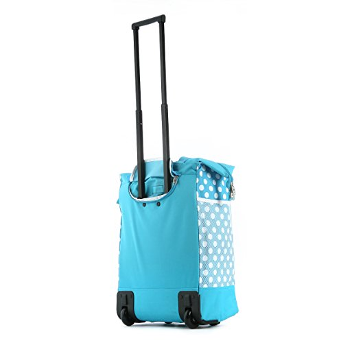 Olympia Luggage Rolling Printed Shopper Tote,Blue,One Size by Olympia (Image #2)