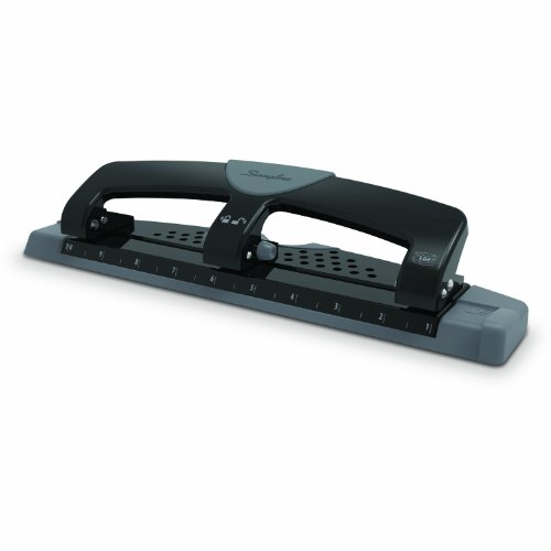 Swingline 3 Hole Punch, SmartTouch, Low Force, 12 Sheets Punch Capacity (74134)