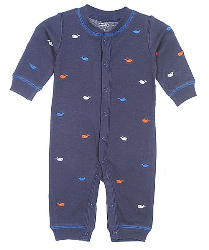 Carter's Easy Entry Sleep N Play - Little Whales-3 Months