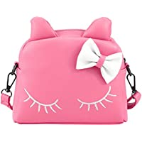 CMK Trendy Kids Cute Little Girls Cat Purse for Toddler Kids Mini Backpack Bags with Bows…