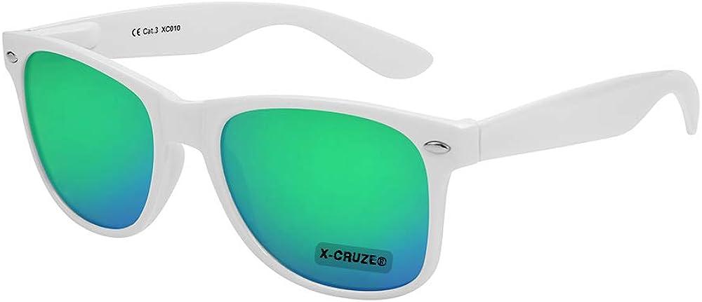 X-CRUZE/® Nerd Sonnenbrille Retro Vintage Style Stil Unisex Brille X01