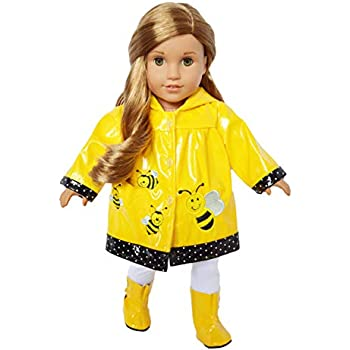 """Yellow Umbrella made for 18/"""" American Girl Doll Clothes"""