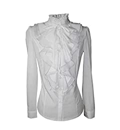 Vectry Blusas De Volantes Blusas Blancas Elegantes Camiseta Blanca Mujer Fiesta Blusas Blusa Volantes Blusas De Mujer Elegantes Blusa Volantes Blusa Encaje ...