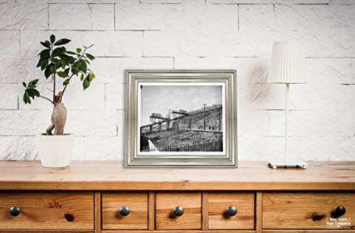 New York Map Company  Cincinnati Historic Black & White Photo, Looking Up at an Inclined Plane, c1904, |Size: 8x10|Ready to Frame
