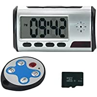 U-Shop Portable Alarm Clock Spy Camera DVR with Motion Detection, Round Remote Control(8Gb Memory Card Includes)