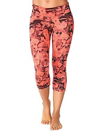 Protokolo Women's Sports Yoga Capri Pants 2755-1 M printed