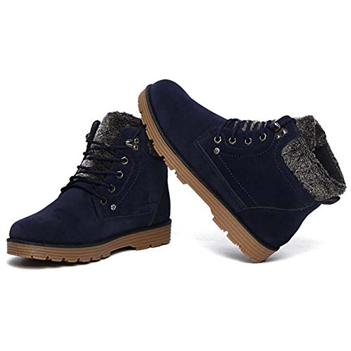 Lace up Snow Boots Blue Bumud Mens Bumud Mens Winter xgftPqznHw