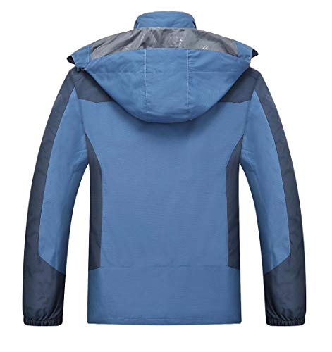 Liner Fleece Climbing Clothing Men's 1 in Blue drying Travel 3 Jacket Quick Outdoor nwxvzg8Oq