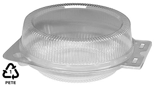 Round Clear Plastic Hinged 9