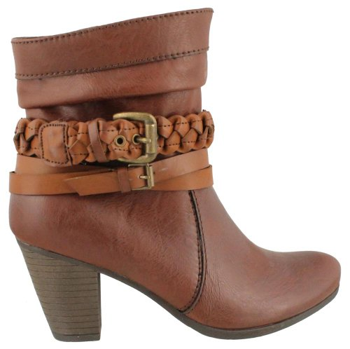 Womens Axxiom by Madeline, Bennie Ankle Boot CHESTNUT 9 M