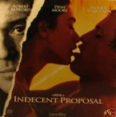 Indecent Proposal Laserdisc Movie, Robert Redford, Demi Moore, Woody Harrelson (Laser Disc) from Paramount