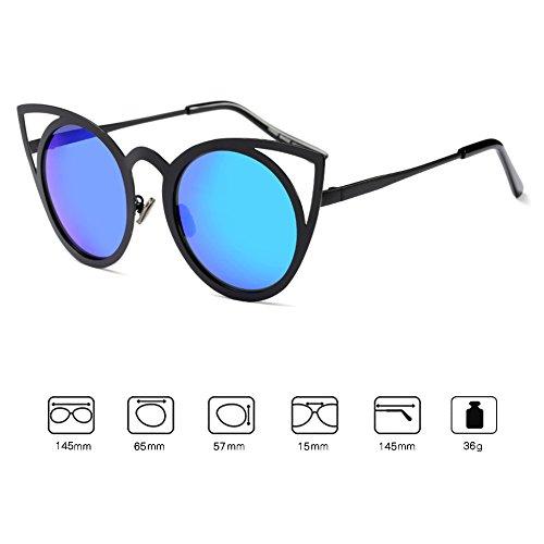 Juleya Cat Fashion Espejo Mujeres Eyewear Mujer Eye UV400 Cateye Vintage C5 Sunglasses xBxwrA